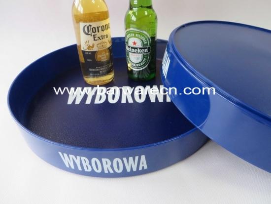 Aangepaste ronde plastic bar serveert dienblad met - Aangepaste bar ...